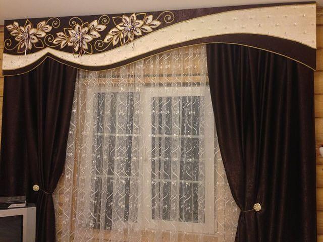 Ажурный шнур в дизайне штор