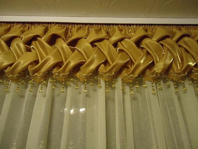 Ручные складки на шторах