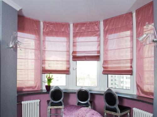 Римские шторы или жалюзи